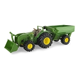 John Deere Monster Tread 8-inch Tractor with Grain Cart - TBEK46260