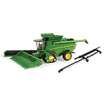 John Deere 1:64 scale S690 Combine with Tracks and Heads - LP53303