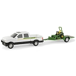 John Deere 1:32 scale Pickup Truck with Z-Trak Mower Set - LP53365