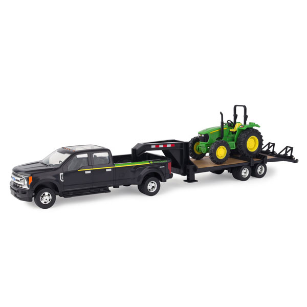 John Deere 1 32 Scale Pickup Truck With Trailer And 5075e