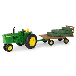 John Deere 1:16 scale Big Farm 4020 with Wagon & Bales Set - 46724