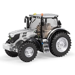 John Deere 1:32 scale Prestige Collection 6195R Silver Platinum YOTT Replica Tractor - 45648A