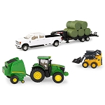 John Deere 1:32 scale Round Baler Haying Set - 46771