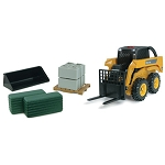 Big Farm 1/16 scale model John Deere Skid Steer Loader Set - 46225