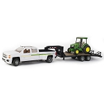 John Deere 1:16 scale Big Farm Pickup with Trailer and 4066R Tractor Set - 46788
