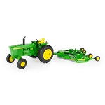 John Deere 1:16 scale Big Farm 4020 Tractor with E12 Rotary Cutter - 47244