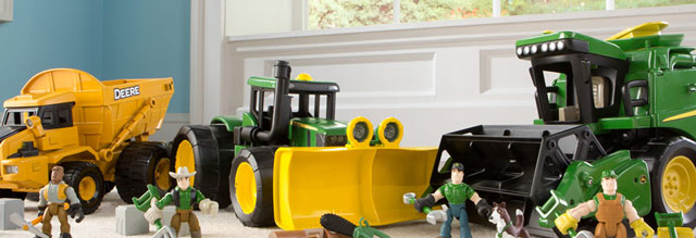 Your child's favorite John Deere vehicle now come to life with action figures, animals and tools for nonstop adventures