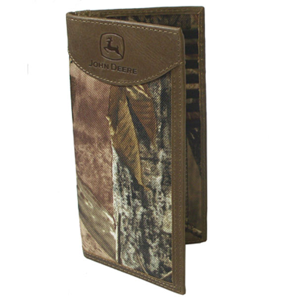 Vintage Leather Look Jeremiah Verse Bible Book Cover Large: John Deere Realtree Camo Checkbook Holder