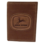 John Deere Distressed Leather Tri-fold Wallet - LP65399