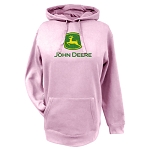 John Deere Pink Ladies' Fleece Hoodie with Glitter Logo - 23020024PK