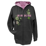 John Deere Ladies Flowers Sequins Full Zip Hood - 23035289CH