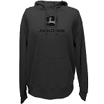 John Deere 2000 Trademark Charcoal Heavy-Fleece Hoodie- 13021700CH