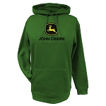 John Deere Green Ladies' Fleece Hoodie with Logo - 23020024GR