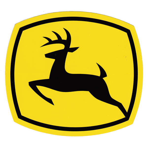 John Deere Leaping Deere 2000 Trademark Logo Decal 6.929-in x 6.299-in - JD5727  sc 1 st  GreenFunStore : john deere decals for walls - www.pureclipart.com