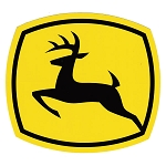 John Deere Leaping Deere 2000 Trademark Logo Decal 6.063-in x 5.512-in - JD5721