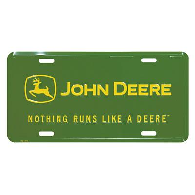 John Deere Nothing Runs Like a Deere License Plate - 62187  sc 1 st  GreenFunStore & John Deere License Plates