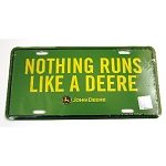 John Deere Nothing Runs Like a Deere Metal License Plate - 99172