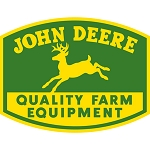 John Deere Embossed Die-Cut Metal Sign - LP47993