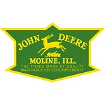 John Deere Embossed Die-Cut Metal Sign - LP47991