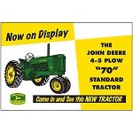 John Deere Embossed Metal Sign - LP47992