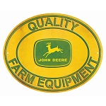John Deere Embossed Metal Oval Sign - LP64758