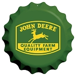 John Deere Bottle Cap Embossed Sign - 16109