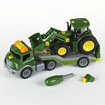 John Deere Buildable 1/24 scale Tractor & Semi Transporter - LP66711