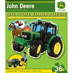John Deere 36-Piece Shaped Floor Puzzle - 'Plowing Through' - LP36157