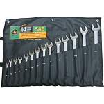 John Deere SAE Satin-Finish 14-piece Combination Wrench Set - TY19918
