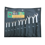 John Deere Metric Satin-Finish 10-piece Combination Wrench Set - TY19922