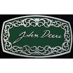 John Deere Signature Montana Silversmiths Belt Buckle - LP32175
