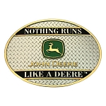 John Deere Montana Silversmiths Nothing Runs Like a Deere Belt Buckle - LP19909