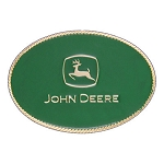 John Deere Gold Oval Green Cast Buckle - LP49313