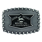 John Deere Silver Stitch Logo Belt Buckle - LP66915