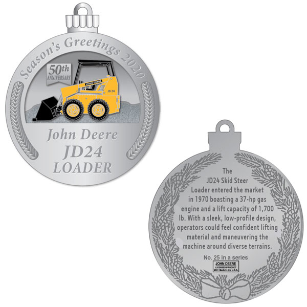 John Deere Christmas Ornament 2020 John Deere Limited Edition 2020 Pewter Christmas Ornament   25th