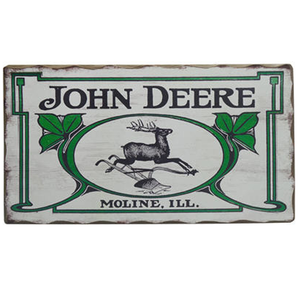 John Deere Gifts >> John Deere Vintage Logo Barn Wood Sign - LP67209