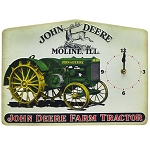 John Deere Farm Tractor Tin Sign Clock - LP67207