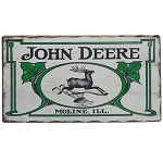 John Deere Vintage Logo Barn Wood Sign - LP67209