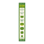 John Deere Vertical Logos Embossed Sign - LP69367