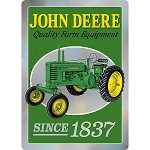 John Deere Prism Knock Out Embossed Sign - LP69368