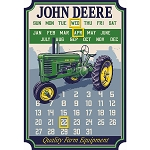John Deere Die Cut Embossed Calendar with Magnets - LP69370