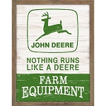 John Deere Wood Framed Nothing Runs Like a Deere MDF Sign - LP69371