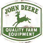 John Deere Quality Farm Equipment Embossed Sign - LP70654