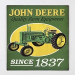 John Deere Since 1837 Embossed Metal Sign - LP71428