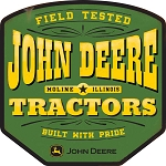 John Deere Field Tested Tractors Metal Sign - LP74597