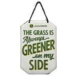 John Deere Greener Hanging Metal Sign - LP74598