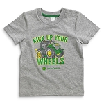 John Deere Kick Up Your Wheels Gray Infant T-Shirt - JSBT008H1F1