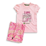 John Deere I Love Farm Life Toddler T-Shirt and Short Set - JSGS015P1T1