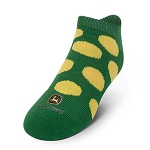 John Deere Girls No Show Green Socks - LP51845 - LP51846