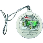 John Deere Limited Edition 2016 Pewter Christmas Ornament - 21st in Series - LP66957
